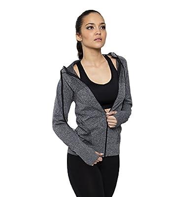 B.BANG Women's Sweatshirts Hoodlies Jackets Full Zipper Long Sleeve Gym Running Coats