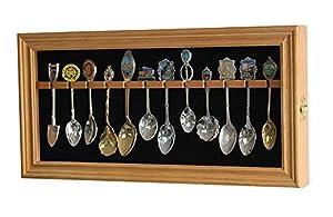 Amazon.com : Spoon Display Case Rack Cabinet to hold 12 Souvenir ...