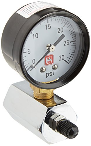 EZ-FLO 45167 Gas Pressure Test Gauge with with, 2-Inch Face, Steel