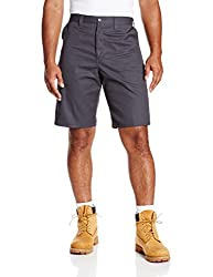 Dickies Occupational Workwear LR303CH 34 Polyester/ Cotton Relaxed Fit Men's Industrial Flat Front Short with Button Closure, 34