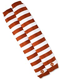 BabyLegs Unisex-Baby Infant Leg Warmers, Burnt Orange/White, One Size