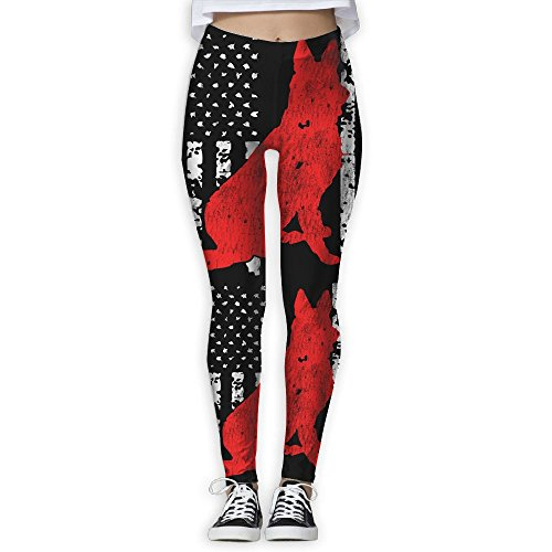German Shepherd Flag Women's Stretchable Sports Running Yoga Workout Leggings Pants - Usps To Australia Tracking