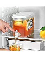 Drinkdispenser met kraan, slanke koelkast drankdispenser met kraan, citroensapdispenser, sapdispenser, drankdispenser, citroensap, 3,5 l