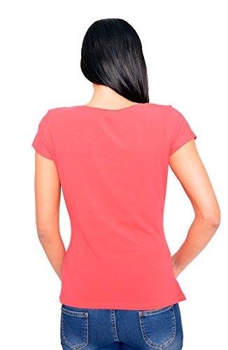 con Koralle manica codolo borraccia corta motivo T dolce Schwa regaio Divertente shirt push moda BnaROHxwqX