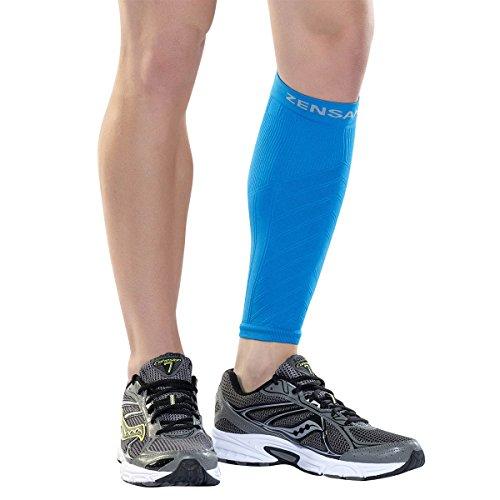 Zensah Calf / Shin Splint Compression Sleeve - Treat Shin Splints and Calf Strains - Compression Sleeve for Running, Basketball, Tennis, Hiking and Jogging - Shin Compression Sleeve (SINGLE SLEEVE)