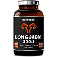 Long Jack (Tongkat Ali) 200:1, 1000mg Per Serving, 120 Capsules, Powerfully Supports Libido, Energy Boosting & Enhanced Stamina for Men & Women, Non-GMO and Made in USA