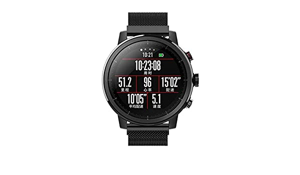 Amazon.com: AgoHike Reemplazo magnético de la Banda de reloj de Acero inoxidable de 22 mm para Stratos Huami 2 / 2s: Home & Kitchen