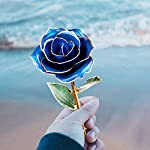Iusun-Artificial-Flowers-24K-Gold-Dipped-Real-Rose-Hydrangea-Floral-Bridal-Wedding-Bouquet-Centerpieces-Arrangements-Party-Festival-Holiday-Home-Office-Hanging-Decorations-Valentines-Gift-Hot-Blue