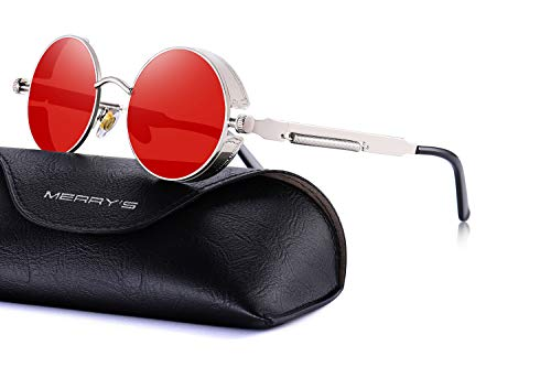 1e931615313 MERRY S Gothic Steampunk Sunglasses for Women Men Round Lens Metal Frame  S567 - Buy Online in Oman.
