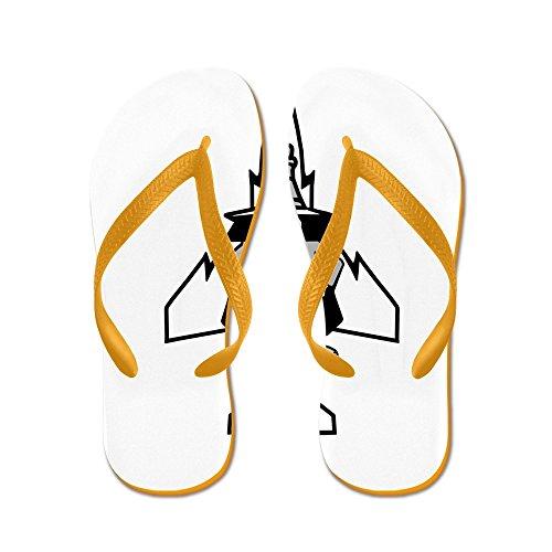 Cafepress Phantom Ii & Its Gears - Slippers, Grappige String Sandalen, Strand Sandalen Oranje