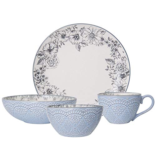 Pfaltzgraff Gabriela Gray 16-Piece Stoneware Dinnerware Set, Service for 4 Review