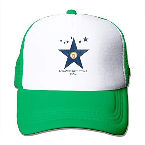 Good Wish Unisex Los Angeles Football Team Walk of Fame Trucker Cap Suitable for Indoor or Outdoor Activities Green]()