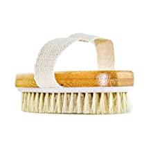 GranNaturals Hand Size Dry Body Brush - Skin and Face - Improve Blood Circulation, Exfoliate Skin, Reduce Cellulite
