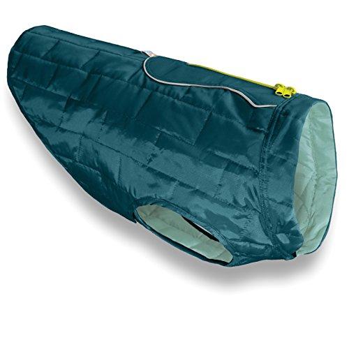 Kurgo Loft Jacket, Reversible Dog Coat, Dog Coat for Cold Weather, Water-Resistant Dog Jacket with Reflective Trim, Ink Blue, Large