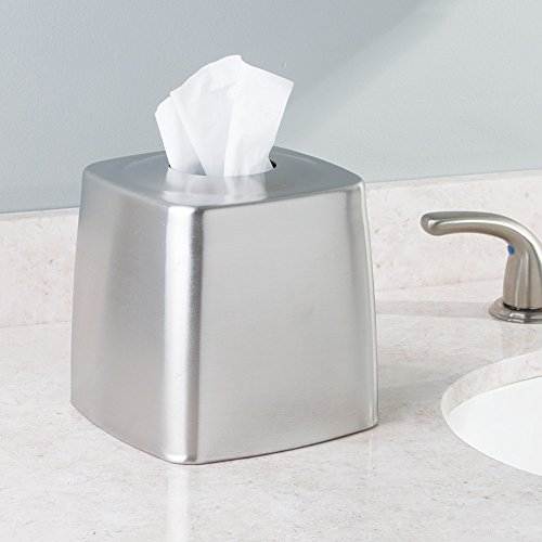 Interdesign Forma Facial Tissue Box Cover Holder For Bathroom Vanity Countertops Brushed