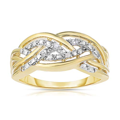 NATALIA DRAKE Gold Over Silver Diamond Accent Ring for sale  Delivered anywhere in USA