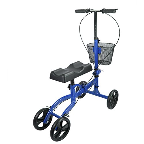 Elevens Steerable Knee Walker with Lockable Brake, Medical Knee Scooter Alternative to Crutches for Broken Leg and Foot Injuries by Elevens (Image #1)
