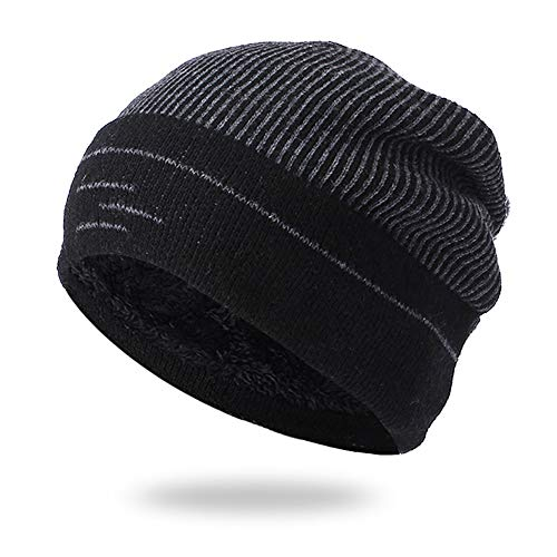 Clearance!! ZTY66 Men Women Cashmere Thick Warm Crochet Winter Outdoor Knit Skull Slouchy Caps Hat - Baseball Cashmere Cap