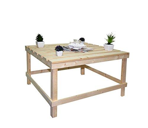 Tavolino Da Salotto Arte Povera.Rebecca Srl Tavolo Tavolini Da Salotto Pallet Legno Pino Naturale