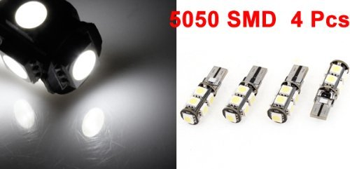 Amazon.com: eDealMax coche No Error de Canbus T10 5050 SMD 9 4PCS de repuesto Lámparas bombilla LED Blanco: Automotive