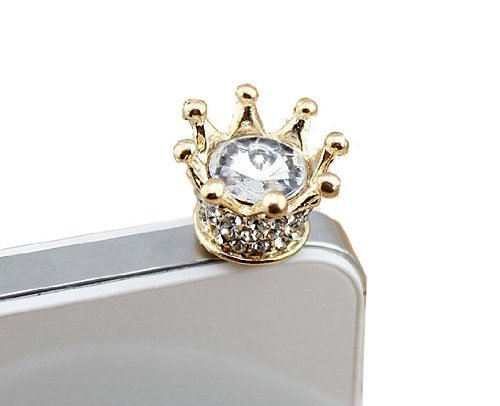 Bee&rose New Fashionable Bling Crown 3.5mm Earphone Jack Dustproof Plug Ear Dust Cap for Iphone 4, 4s ,5, 5s ,Samsungi9100,i9300,i9500,galaxy S3/4 Note N7100,htc,nokia Lumia 920,sony, Blackberry,motorola ,Lg,lenovo, Ipod Touch / Ipad and Any 3.5mm Ear Device (Ipod 4 Case Maker compare prices)