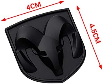 Black 4x4.5CM Matte Black Metal Goat Ram Symbol Emblem Badge Stickers for Auto Car Side Fenders Window Bumper Boot Trunk Exterior Decal