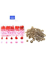 Pack of 100 Plastic Nose Triangle Safety Noses Pink Red for Doll, Puppet, Plush Animal, Teddy Bears Making Materials