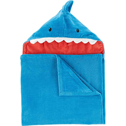 Carter's Baby Unisex 100% Cotton Terry Hooded Bath Towel, Shark Carters Terry Hooded Towel