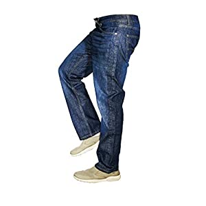 Men's Jeans Relaxed Fit , Regular Fit & Straight Fit 100% Cotton Denim