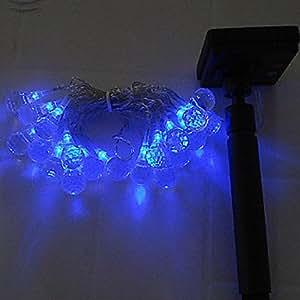 DOUMI 5.5M Blue Light LED Solar Strip Light for Christmas Decorations