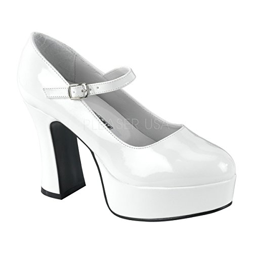 Funtasma by Pleaser Women's Platform Mary Jane,White Patent,8 M ()