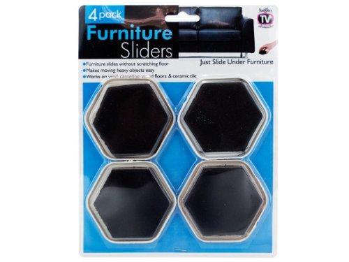 144 Packs of 4 Pack furniture sliders
