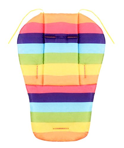 Cool Thicken Baby Strollers Mat Stroller Seat Liners - Rainbow by George Jimmy