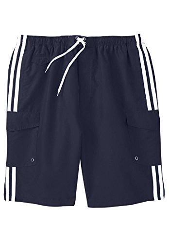 Kingsize Mens Double Stripe Boardshorts