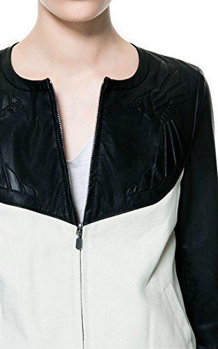 Zara de combinación crema lona y tamaño de la funda de piel ...