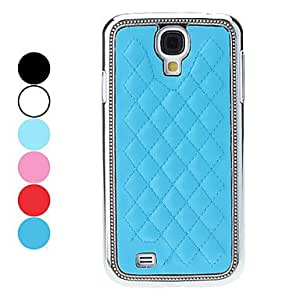 TOPAA Grid Style Hard Case for Samsung Galaxy S4 I9500 (Assorted Colors) , Light Blue