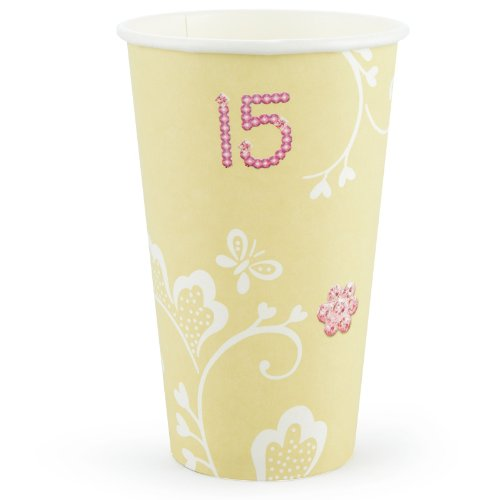 [Mis Quince 16 oz. Paper Cups (18 count)] (Les Mis Halloween Costumes)