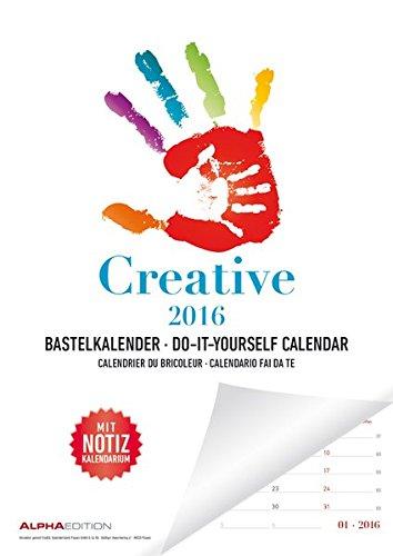 Mal- und Bastelkalender 2016 mit Platz für Notizen/Do it yourself calendar A4 - datiert - Valentinstag-Kalender