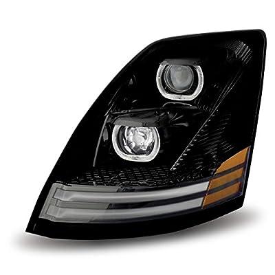 Volvo VNL LED Projector Headlight (Black) - Driver Side