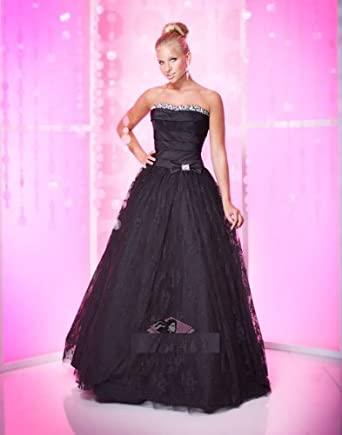 Atopdreess Lb01 Black Evening Prom Robe Ball Gown Dresses Size 22