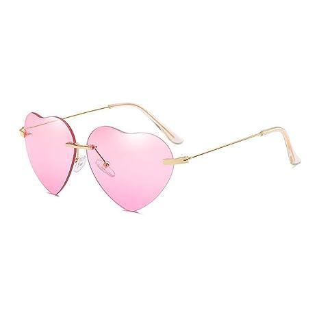 FOONEE Gafas de Sol con Forma de corazón Vintage, Marco de ...