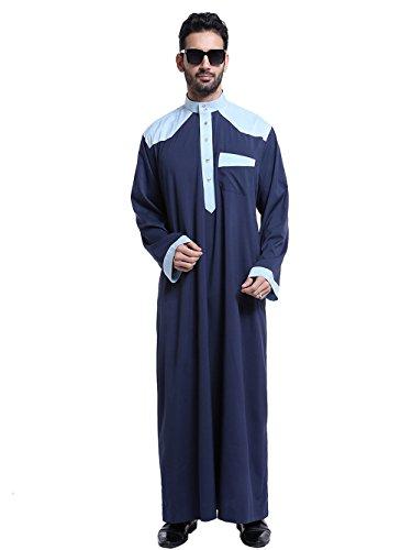 KEEN ZTQ - Chamarra para Hombre, Estilo Clásico, Estilo árabe Musulmán, Estilo Clásico, Azul Marino, Medium