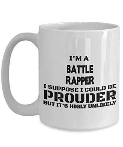 Battle Rapper Gifts - Coffee Mug For Battle Rapper, for Women And Men, Unique Hip Hop/Rap Hobby Present, Ceramic Tea/Coffee Cup