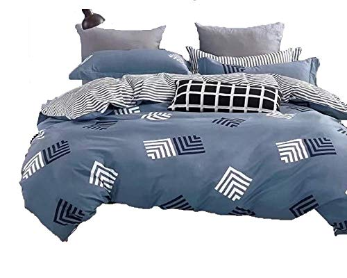 Cheap  Swanson Beddings Reversible Geo Stripes 3-Piece 100% Cotton Bedding Set: Duvet Cover..