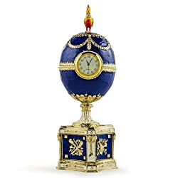 Kelch Chanticleer Royal Russian Egg- Enameled Jewelry Trinket Box Figurine