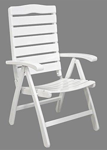 Gartenstuhl Sylt - Massiver Hochlehner aus Holz - weiß lackiert ...