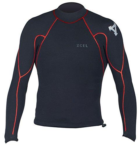 2Mm Mens Xcel Drylock L S Wetsuit Jacket   Black  S