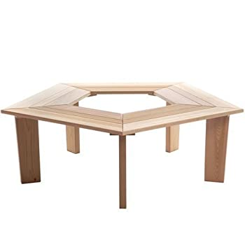 All Things Cedar 5 Sided Tree Bench - Western Red Cedar
