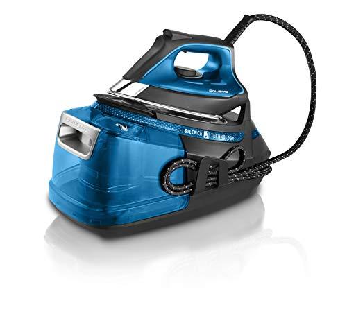 Rowenta DG9222F0 Silence Steam Pro – Centro de planchado, autonomía ilimitada de 7,5 bares, golpe de vapor 450 g/min, vapor continuo de 140 g/min, suela Microsteam Laser 400, función Eco