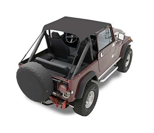 Bestop 52508-01 Black Crush Traditional Bikini Top for 1976-1991 CJ-7, CJ-8 Scrambler and Wrangler ()